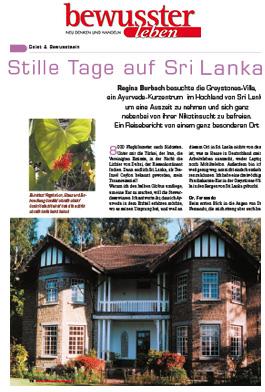 Stille Tage auf Sri Lanka